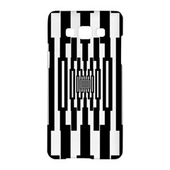Black Stripes Endless Window Samsung Galaxy A5 Hardshell Case
