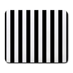 Black And White Stripes Large Mousepads by designworld65