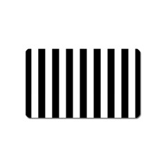 Black And White Stripes Magnet (name Card) by designworld65