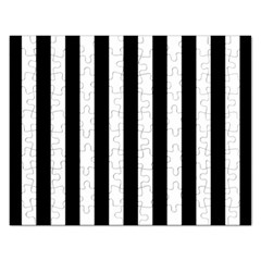 Black And White Stripes Rectangular Jigsaw Puzzl
