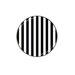 Black And White Stripes Hat Clip Ball Marker