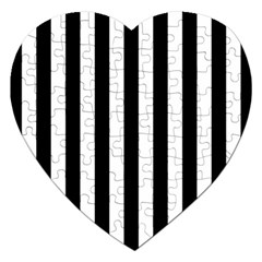Black And White Stripes Jigsaw Puzzle (heart)