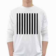 Black And White Stripes White Long Sleeve T Shirts