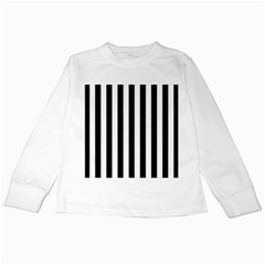 Black And White Stripes Kids Long Sleeve T Shirts