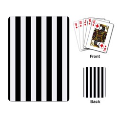 Black And White Stripes Playing Card