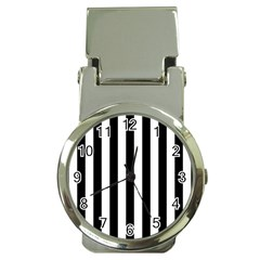 Black And White Stripes Money Clip Watches