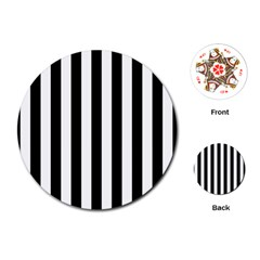 Black And White Stripes Playing Cards (round)