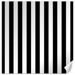 Black And White Stripes Canvas 12  X 12