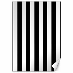 Black And White Stripes Canvas 12  X 18