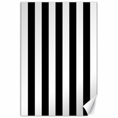 Black And White Stripes Canvas 24  X 36