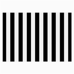 Black And White Stripes Large Glasses Cloth (2 Side) by designworld65