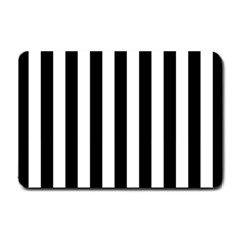 Black And White Stripes Small Doormat