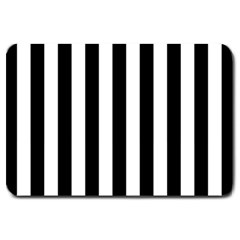 Black And White Stripes Large Doormat