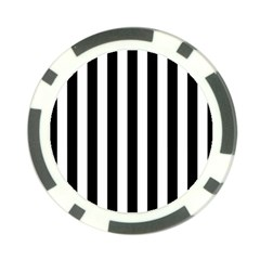 Black And White Stripes Poker Chip Card Guard by designworld65