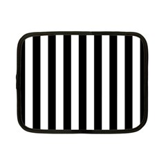 Black And White Stripes Netbook Case (small)