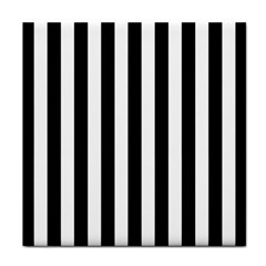 Black And White Stripes Face Towel