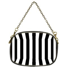 Black And White Stripes Chain Purses (one Side)