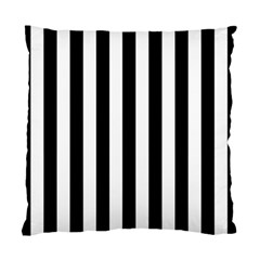 Black And White Stripes Standard Cushion Case (two Sides)