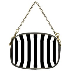 Black And White Stripes Chain Purses (two Sides)