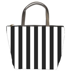 Black And White Stripes Bucket Bags