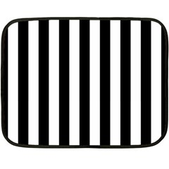 Black And White Stripes Fleece Blanket (mini)