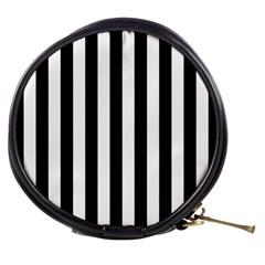 Black And White Stripes Mini Makeup Bags