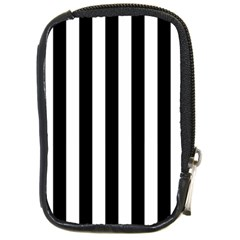 Black And White Stripes Compact Camera Cases