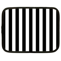 Black And White Stripes Netbook Case (xxl)