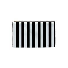 Black And White Stripes Cosmetic Bag (small)