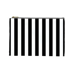 Black And White Stripes Cosmetic Bag (large)