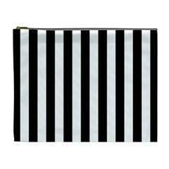 Black And White Stripes Cosmetic Bag (xl)