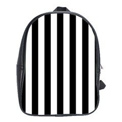 Black And White Stripes School Bag (large)