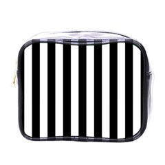 Black And White Stripes Mini Toiletries Bags