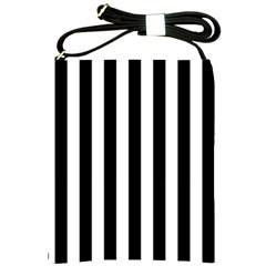 Black And White Stripes Shoulder Sling Bags