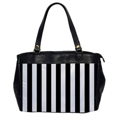 Black And White Stripes Office Handbags