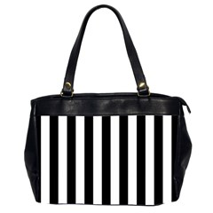 Black And White Stripes Office Handbags (2 Sides)