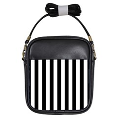 Black And White Stripes Girls Sling Bags