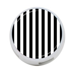 Black And White Stripes 4 Port Usb Hub (one Side)