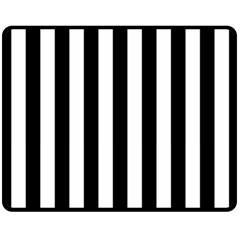 Black And White Stripes Fleece Blanket (medium)