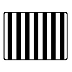 Black And White Stripes Fleece Blanket (small)