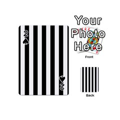 Black And White Stripes Playing Cards 54 (mini)