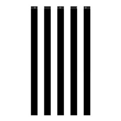 Black And White Stripes Shower Curtain 48  X 72  (small)