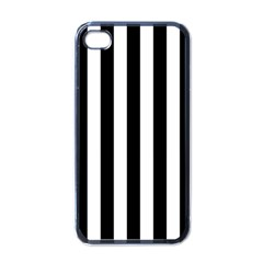 Black And White Stripes Apple Iphone 4 Case (black)