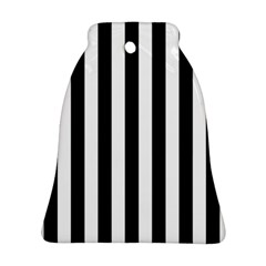 Black And White Stripes Bell Ornament (two Sides)