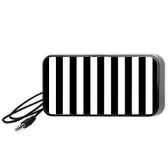 Black And White Stripes Portable Speaker (black)