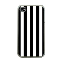 Black And White Stripes Apple Iphone 4 Case (clear)