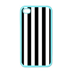 Black And White Stripes Apple Iphone 4 Case (color)