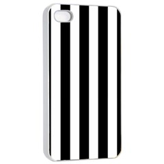 Black And White Stripes Apple Iphone 4/4s Seamless Case (white) by designworld65