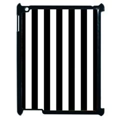 Black And White Stripes Apple Ipad 2 Case (black)