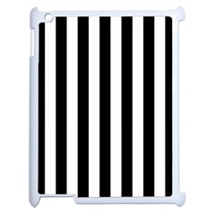 Black And White Stripes Apple Ipad 2 Case (white)